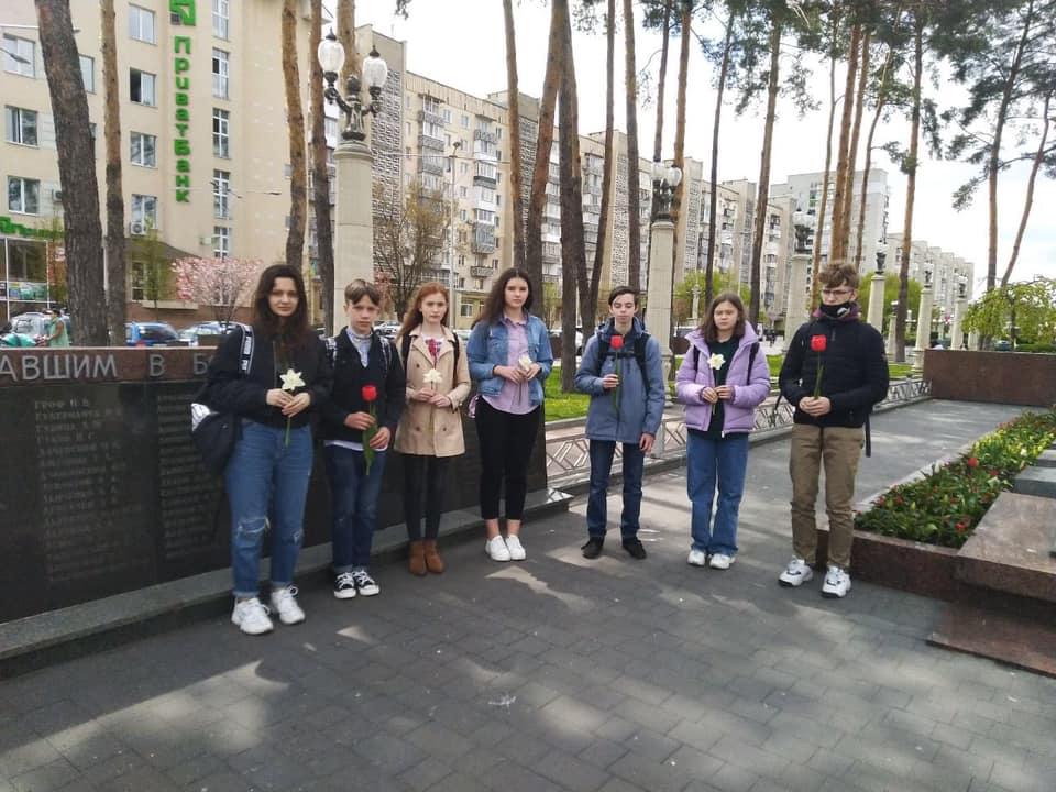 Ліцеїсти ІАЛ НУБіП України відвідали пам'ятник Невідомому солдату.
